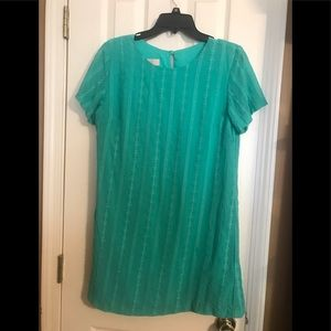 Kelly green detailed dress